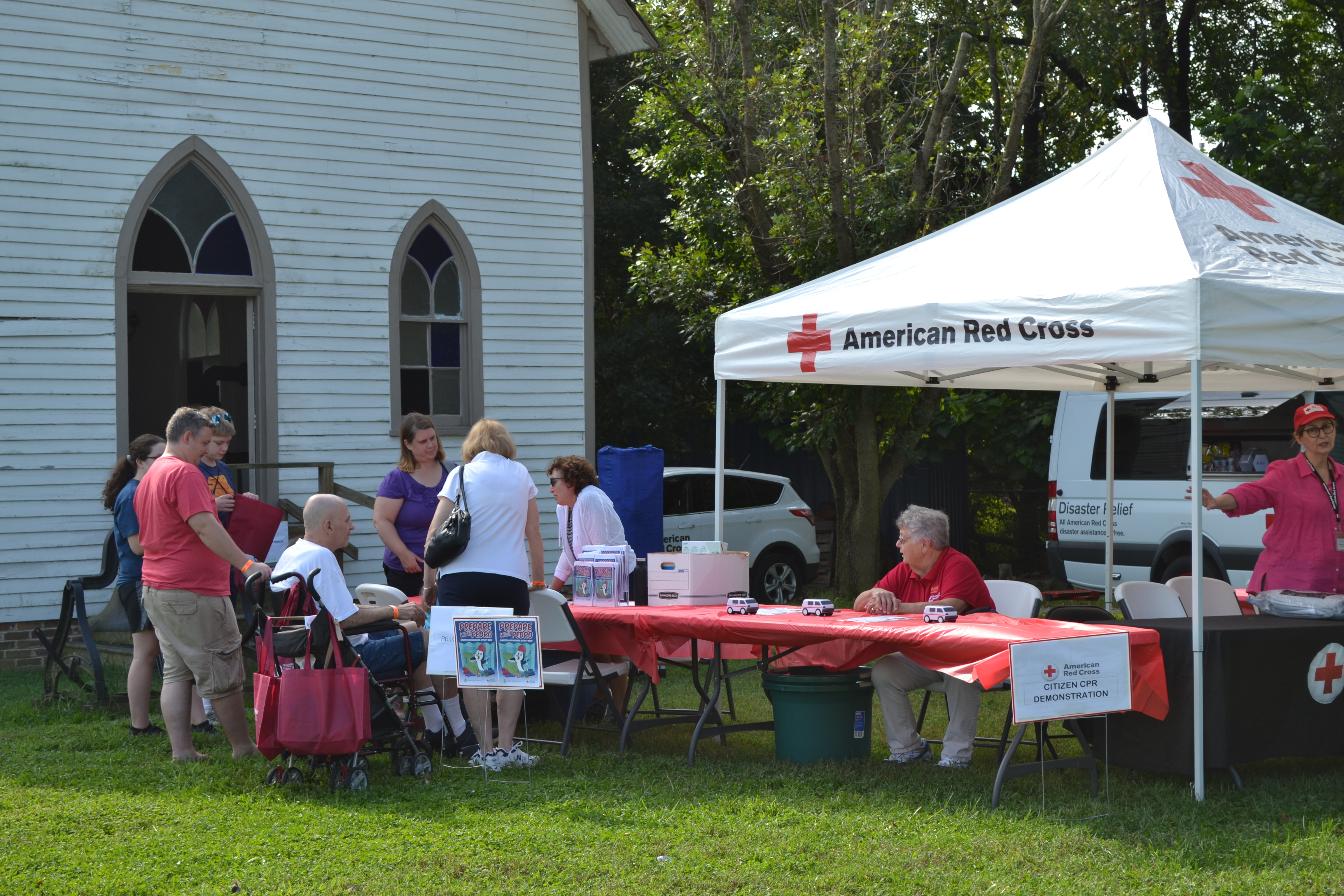 Family Preparedness Day American Red Cross Vendor Table and Tent